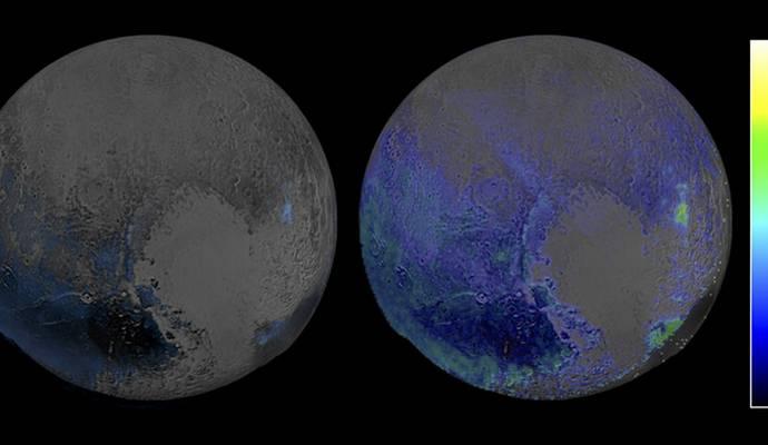 NASA установили, что на поверхности Плутона есть лед