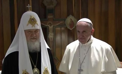 Появились фото исторической встречи Папы Римского и патриарха РПЦ Кирилла (1)