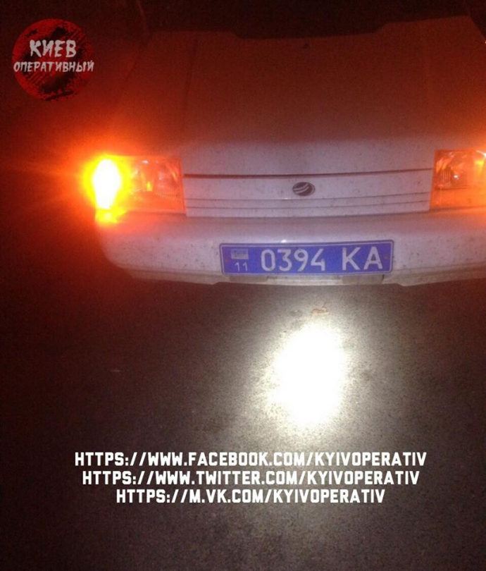 У Києві впіймали дуже п'яного полковника МВС за кермом: опубліковані фото (1)