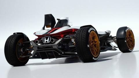 Honda выпустила трековый спорткар с мотоциклетным мотором (5 фото) (3)