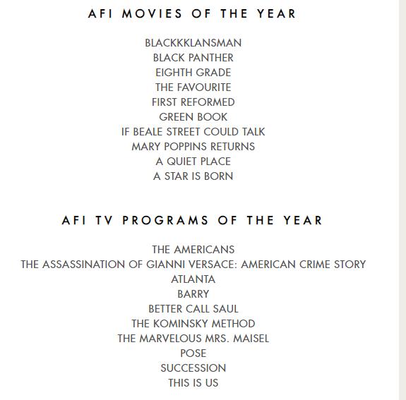 AFI Awards 2018: названі кращі фільми і серіали 2018 року (1)