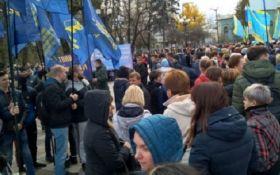В Києві на акцію протесту вийшли тисячі вчителів - опубліковано відео