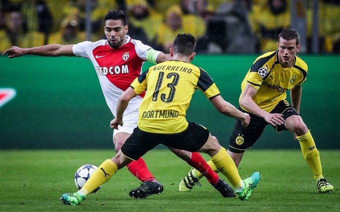 «Монако» сыграет «Боруссией» вответном матче ¼ финала Лиги Чемпионов