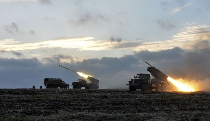 "Боевики устанавливают ""Грады"" - разведка"