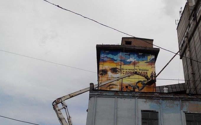 У Запоріжжі з'явився величезний портрет Савченко: опубліковані фото