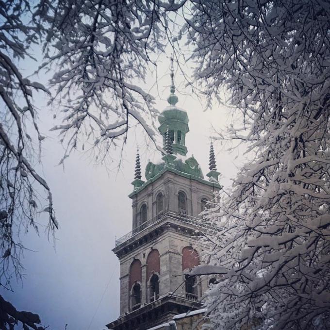 Львов засыпало снегом: в сети публикуют зрелищные фото (8)