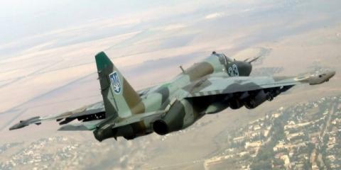 Под Запорожьем разбился военный СУ-25