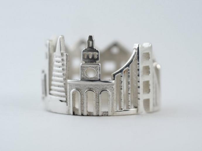 Драгоценные кольца с городскими пейзажами (22 фото) (2)