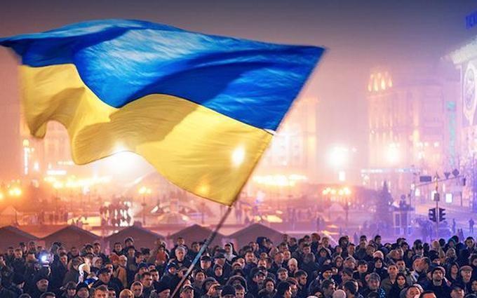 В Киеве отметили День достоинства и свободы: появилось видео