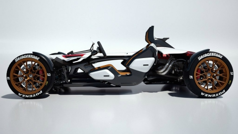 Honda выпустила трековый спорткар с мотоциклетным мотором (5 фото) (2)
