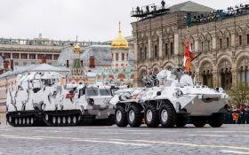 """Путін похвалився новими """"Термінаторами"""" і """"Тиграми"""" на параді в Москві: з'явилося відео"""