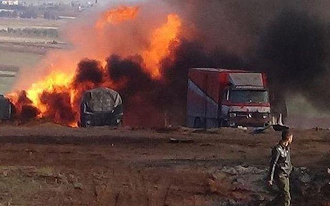 Атака на гумконвой в Сирії: з'явилося шокуюче відео з місця трагедії