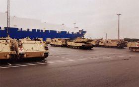 Американские танки в Европе показали несколькими впечатляющими видео