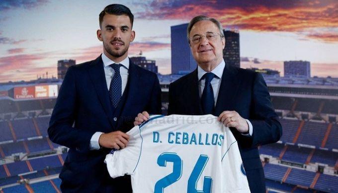 «Реал» официально представил Себальоса вкачестве своего игрока