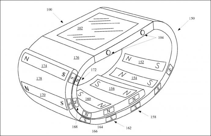 Apple запатентувала незвичайний браслет-чохол для Watch (1)