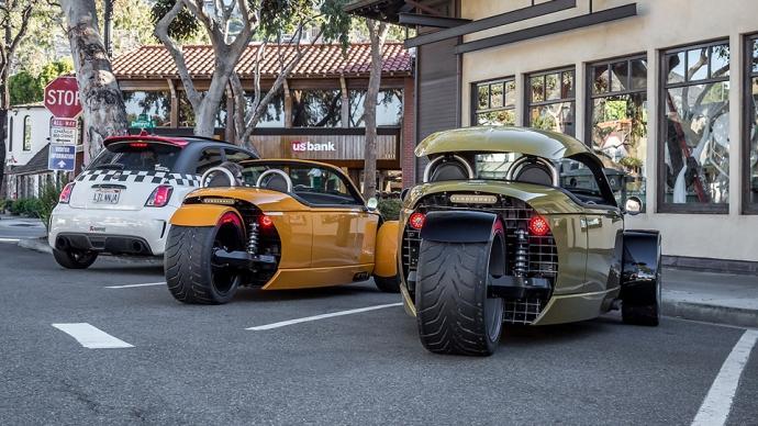 Компания Vanderhall представила трехколесный 200-сильный автомобиль (4 фото, видео) (3)