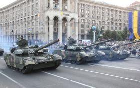 Ракеты, танки и авиация: опубликованы зрелищные фото и видео репетиции парада в Киеве