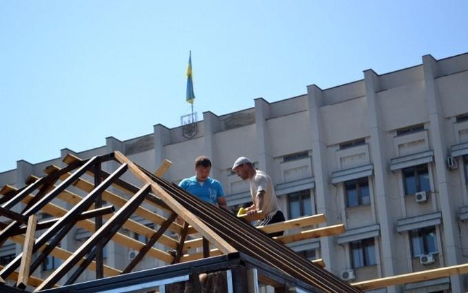 """Саакашвілі почав будувати в Одесі """"миттєвий РАГС"""": опубліковано фото"""