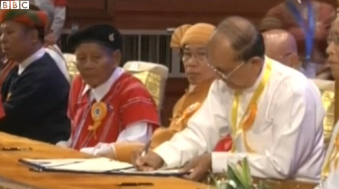 М'янма підписала мирний договір з повстанськими угрупованнями