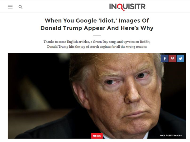 """Google почав показувати фото Трампа за запитом """"idiot"""" (3)"""
