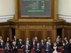 Под проектом постановления об ответственности Кабмина поставили подписи 155 депутатов от ПР