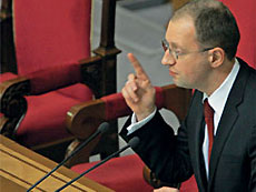 Яценюк: досрочные парламентские выборы не принесут политической стабильности в Украине