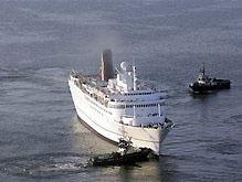 У берегов Латвии сел на мель круизный лайнер. Среди экипажа судна – 68 украинцев