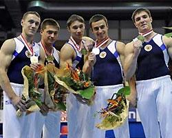 Мужская сборная России по гимнастике выиграла чемпионат Европы