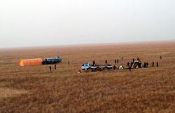 """""""Союз ТМА-11"""" приземлился в 420 километрах от заданной точки"""