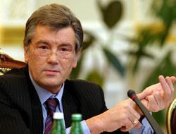 Ющенко передав Благодатний вогонь представникам Церков