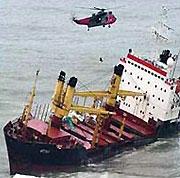 В Керченском проливе затонул сухогруз
