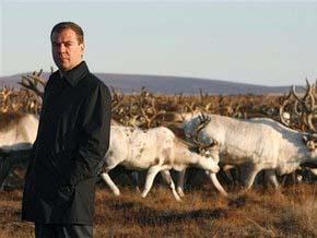 Президенту России подарили северного оленя