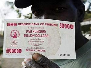 Центробанк Зимбабве убрал с банкнот 12 нулей