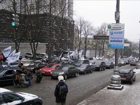В Киеве заблокирована улица Грушевского