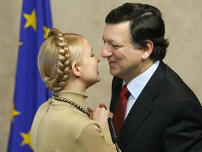 Тимошенко рассказала Баррозу о важности сотрудничества в сфере энергобезопасности