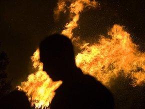 Во Львовской области горела цистерна с дизтопливом