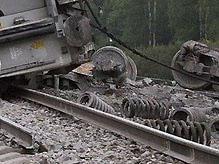 В России поезд сошел с рельсов: пострадало 60 человек