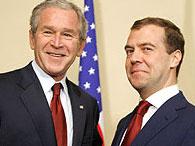 Медведев и Буш выступили с посланием