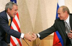 Путин и Буш проведут последнюю встречу в ранге президентов