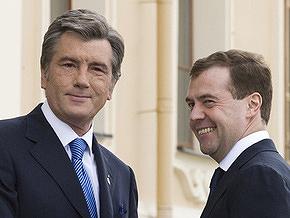 Путин и Медведев поздравили Тимошенко и Ющенко