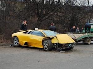 Под Ужгородом разбили Lamborghini Кахи Каладзе