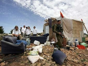 На палестинской территории снесли еврейское поселение
