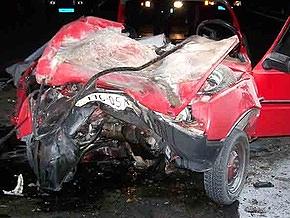 В Киевской области Таврия врезалась в грузовик: трое погибших