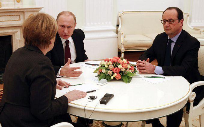 У Путіна зірвалася зустріч з Меркель і Олландом: стали відомі подробиці