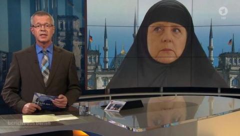 """Німецький телеканал """"одягнув"""" Меркель в хіджаб"""