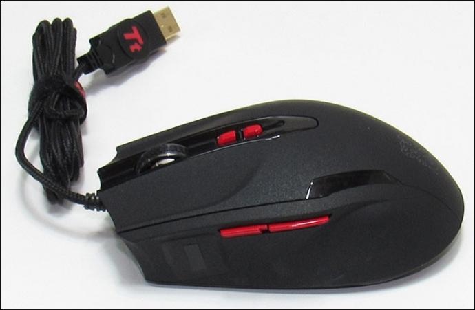 Tt eSports встроила в мышь Black V2 биометрический сенсор Synaptics IronVeil