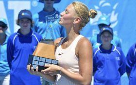 Юная украинская теннисистка победила на взрослом турнире: захватывающее видео финала