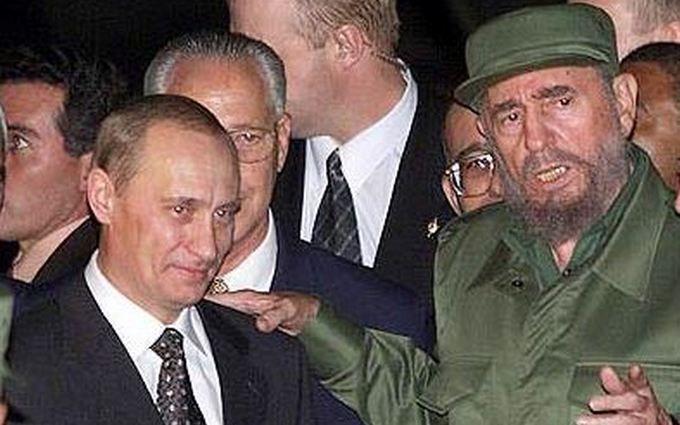 Путін привітав Кастро з 90-річчям: соцмережі висміяли президента Росії