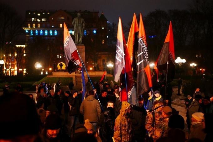 В Киеве провели факельное шествие в честь Бандеры: опубликованы фото и видео (1)