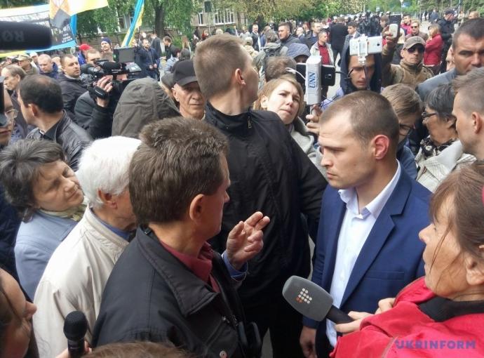 На акції під МВС сталася бійка мітингувальників з поліцією: з'явилися фото (1)